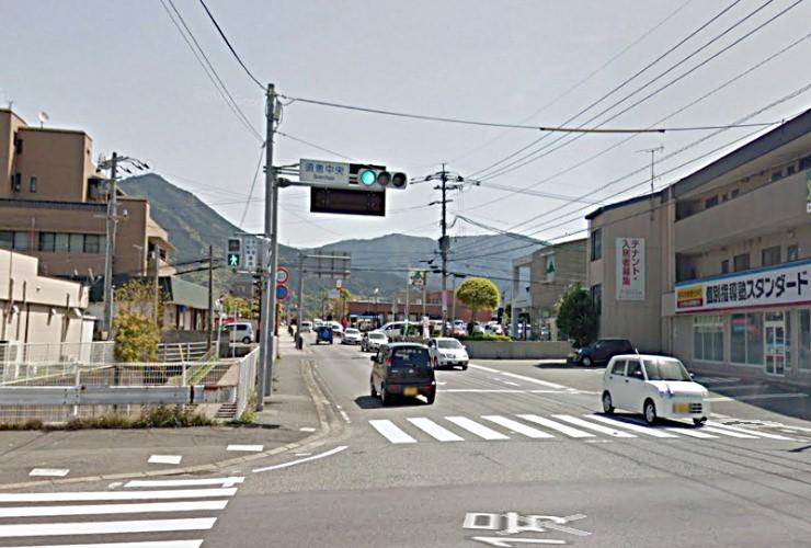 須恵中央の交差点